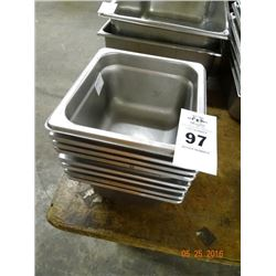 """1/4 Size by 4"""" Insert Pans - 8 Times the Money"""