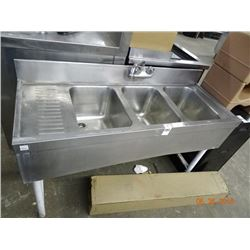 3-Comp Bar Sink