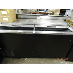 """Bev-Air 65"""" Refrigerated Slide Top Bottle Box Tested to 48deg"""