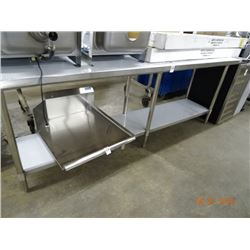 Boos S/S 8' Table w/Undershelf