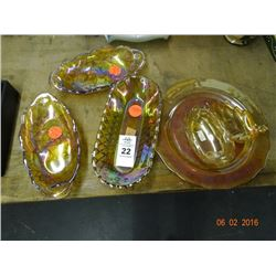 Carnival Glass Platters - No Shipping