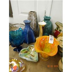 Lot of Art Glas Vases - No Shipping