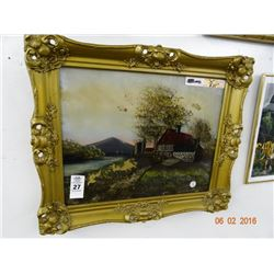 """Framed Reverse Print """"Road To The Farm"""""""