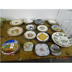 Lot of Painted Plates - No Shippinng