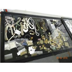 Contents of Shadow Box Estate Jewelry