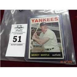 1964 Topps Mickey Mantle Card