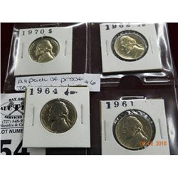4 Pack of Proof Jefferson Nickels