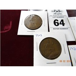 4 Pack of Old British Large Cent