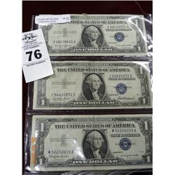 3-Pack of Old Silver Certificate