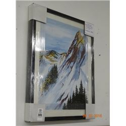 "Framed Print Title ""Rocky Mountain Slope"""