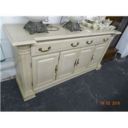 Pickled Oak Server Cabinet