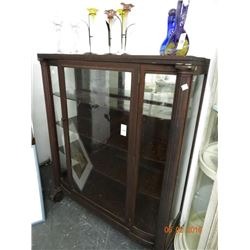 Glass Front Mahogany China Hutch