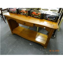 Knotted Pine Hall Table