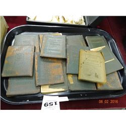 Tray Lot Little Leather Books