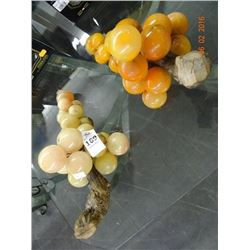 Art Glass Grapes On Stems (2) - No Shipping