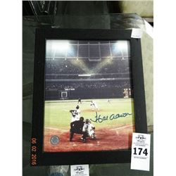 Framed Hank Aaron Autographed Photo