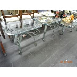 Glasstop Hall Table/Coffee/ & End Tables - No Shipping