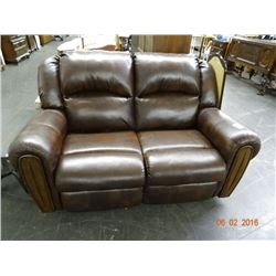 Brown Leather Recliner Love Seat