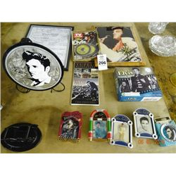Elvis Plate, TV Guide, Clock, Music Boxes