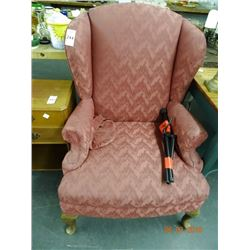 Maroon Padded Wingback Chair