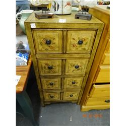 Floral Motif  4-Drawer Chest