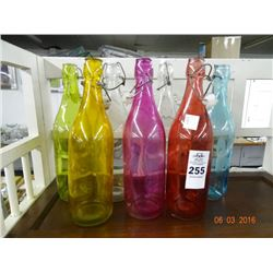 Art Glass Cork Bottles (7)  - No Shipping