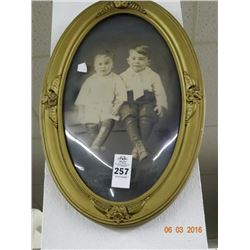 Oval Framed Photo of Young Boys