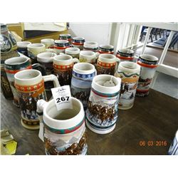 23 Beer Steins - 23 Times the Money - No Shipping