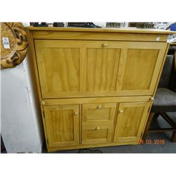 Unfinished Drop Front Desk/Cabinet