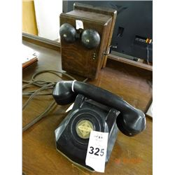 Western Electric Phone & Wood Crank Bell Box 1920's