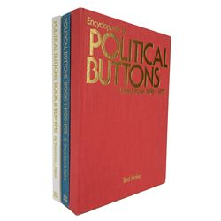 Three Volume Hake on Political Buttons in Hardcover