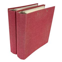 Binders Pertaining to the John J. Rowe Collection of Early Ohio Paper Money, &c.