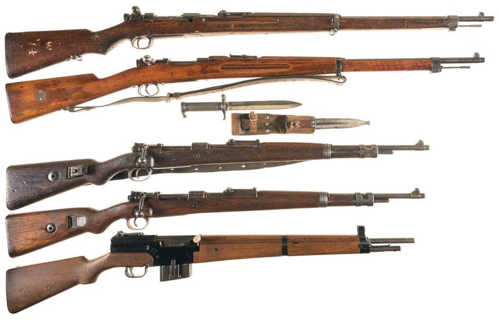 five military rifles a mexican contract japanese model