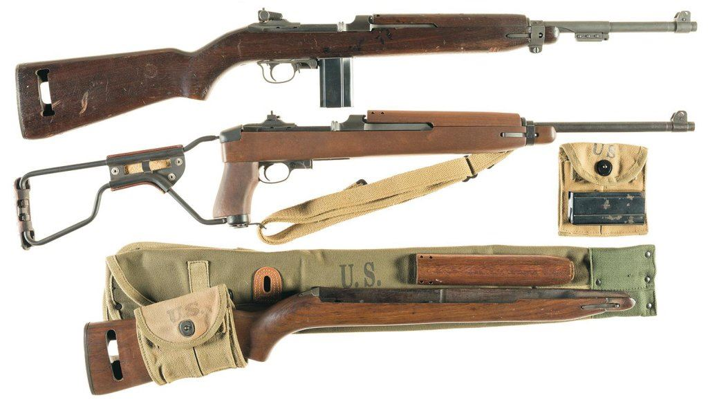 Two Us Military Semi Automatic Carbines A Us Inland M1 Carbine