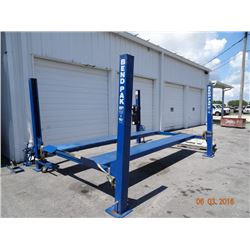 2008 Bend Pak #HD9-8   9k lb. Capacity 4-post Drive On Auto Lift