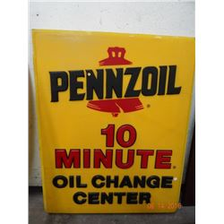 2 Pennzoil Square Signs - 2 Times the Money