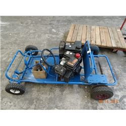 Blue Go Cart w/2 Gas Motors Chain & 2 Clutches