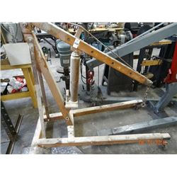 Orange 2 Ton Shop Crane