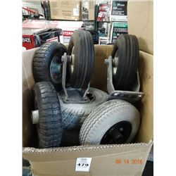 Box of Tires & Wheels