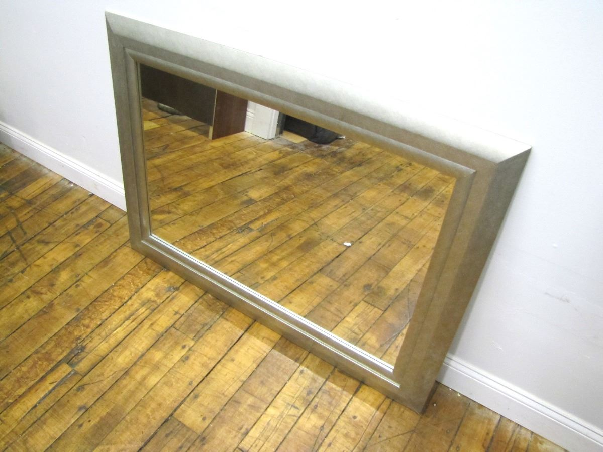 Silver Leaf Decoration Furniture 1 Decorative Silver Leaf Frame Mirror 33 X 44