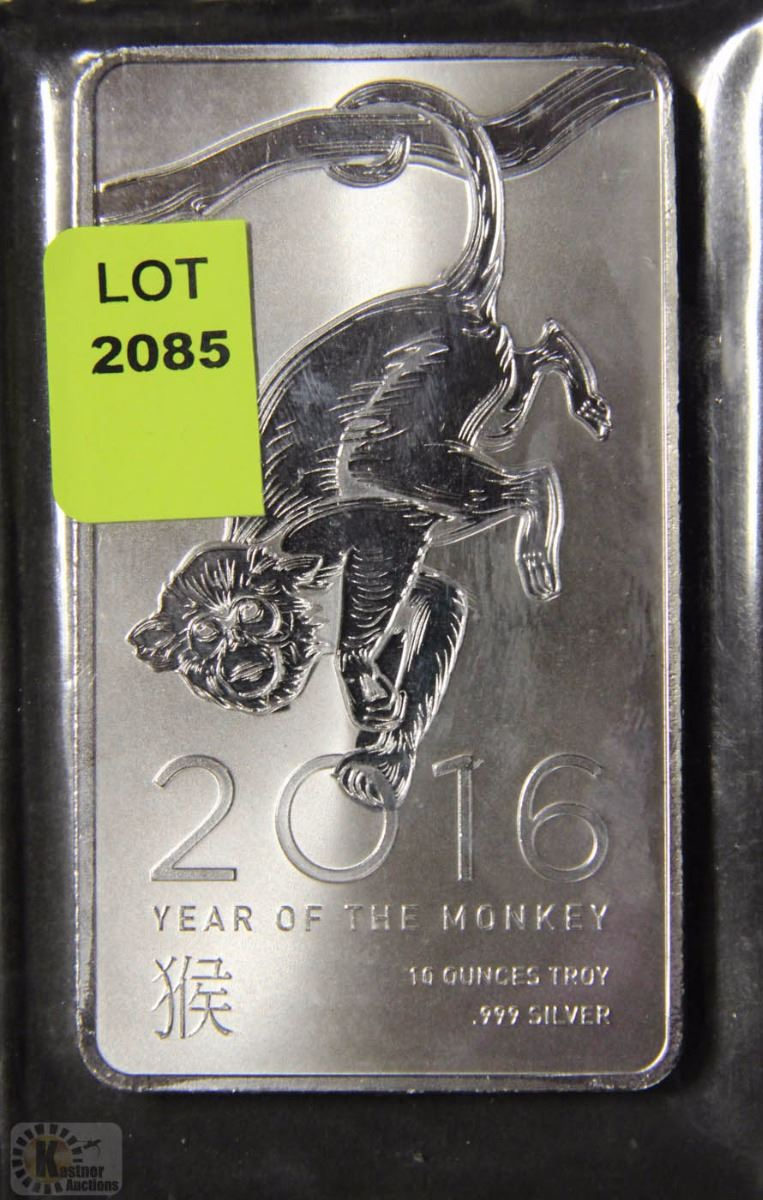 Year Of The Monkey 10 Ounce Silver Bar