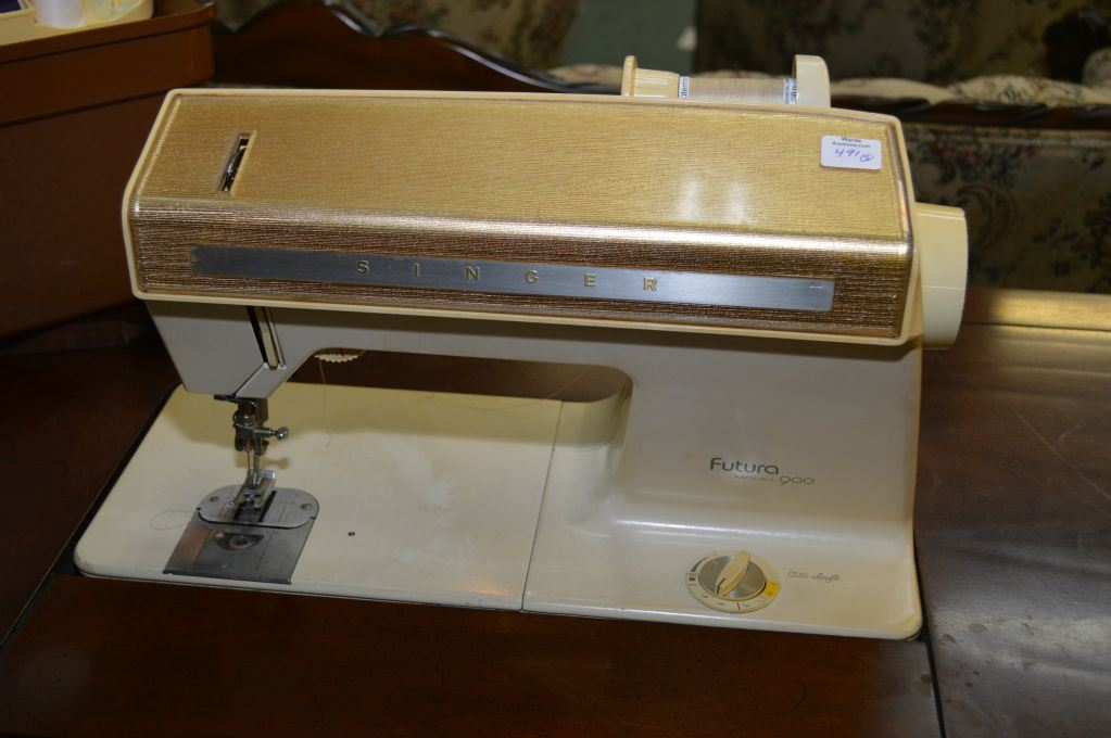 ... Image 2 : Singer Futura 900 Electric Sewing Machine In Double Pedestal  French Provincial Style Cabinet ...