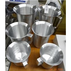 6 Aluminum Pitchers - 6 Times the Money