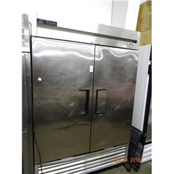 True S/S 2 Door Refrigerated Reach-In - Tested at 57 deg.