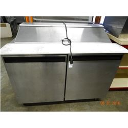 "S/S 48"" Refrigerated Prep Unit on Wheels"