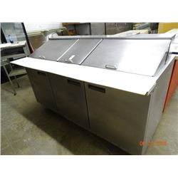 S/S 6'  3-Door Refrigerated Prep Unit