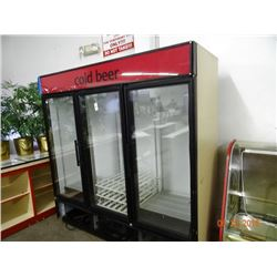 True Glass 3-Door Refrigerated Merchandiser  Tested to 37 deg