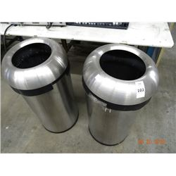 2 S/S Trash Cans - 2 Times the Money