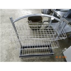 Metal 3 Shelf Chip Cart