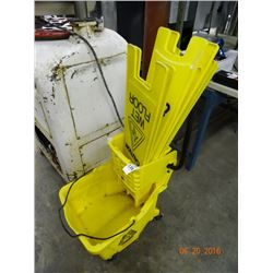 Mop Bucket & Caution Signs